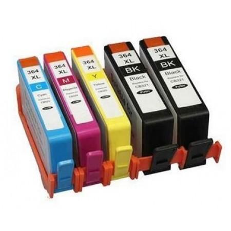 Kit 5 Cartucce colori per HP 364XL Compatibili